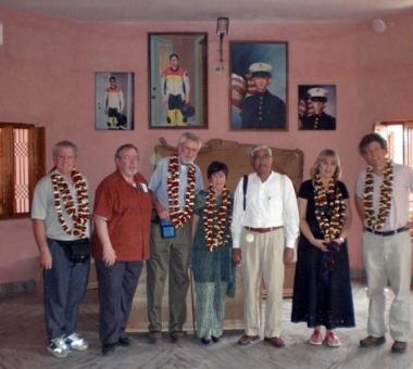 Visitors inside Chandran Memorial Hall (February 2008)